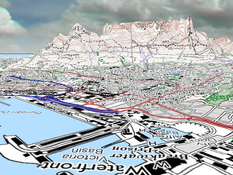 South African Space Portal Sa Topographic Maps Worldwind South