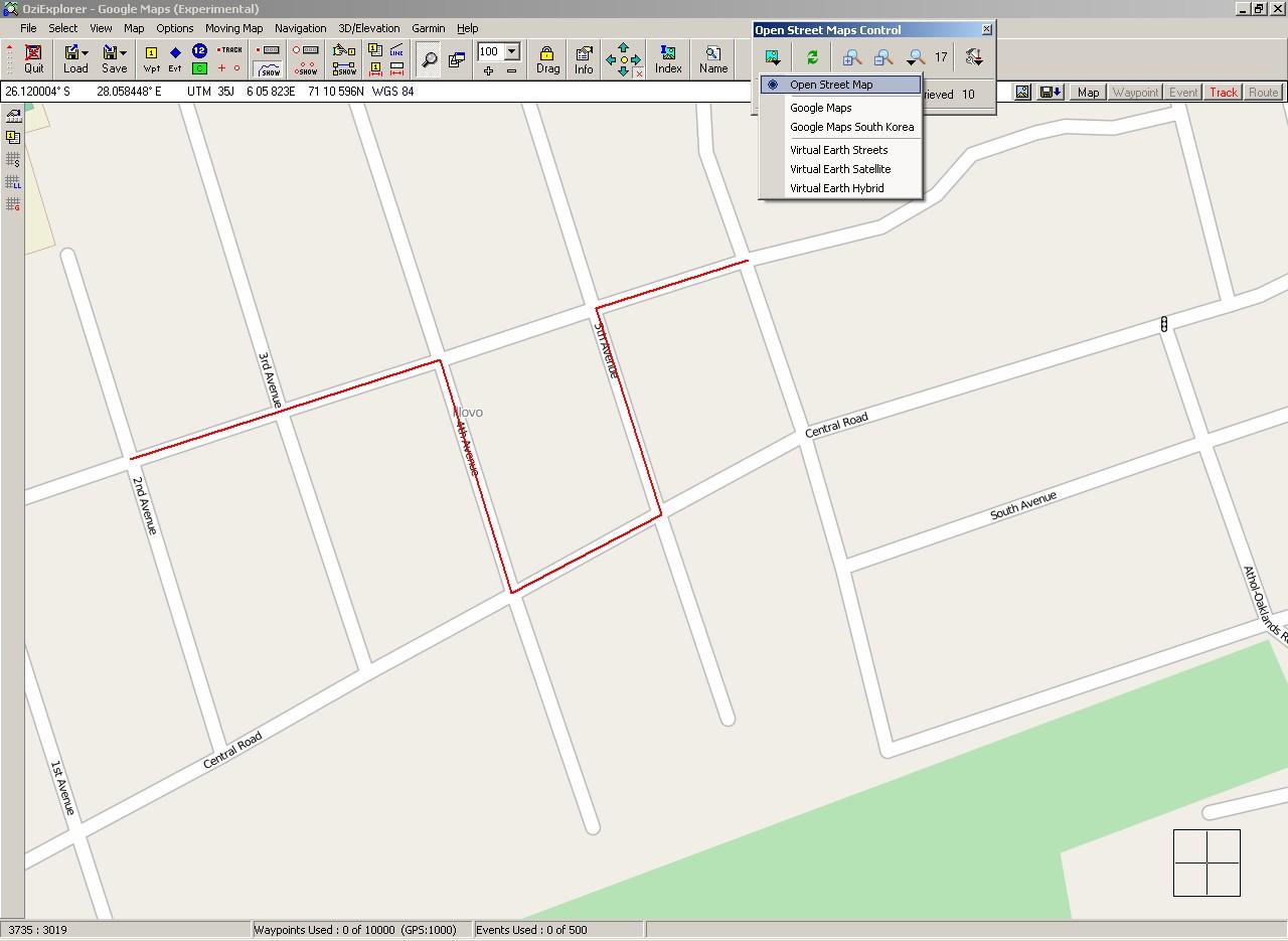 OSM+track